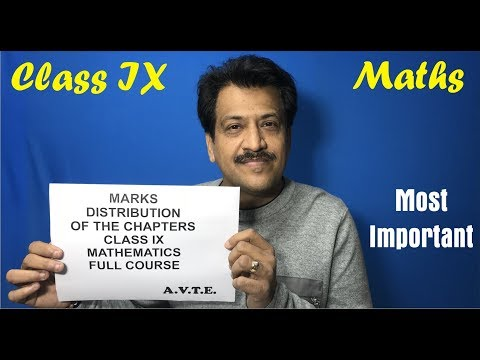 CBSE Class 9 Maths || Full Course Marking Scheme and Pattern of the Paper  ||  AVTE
