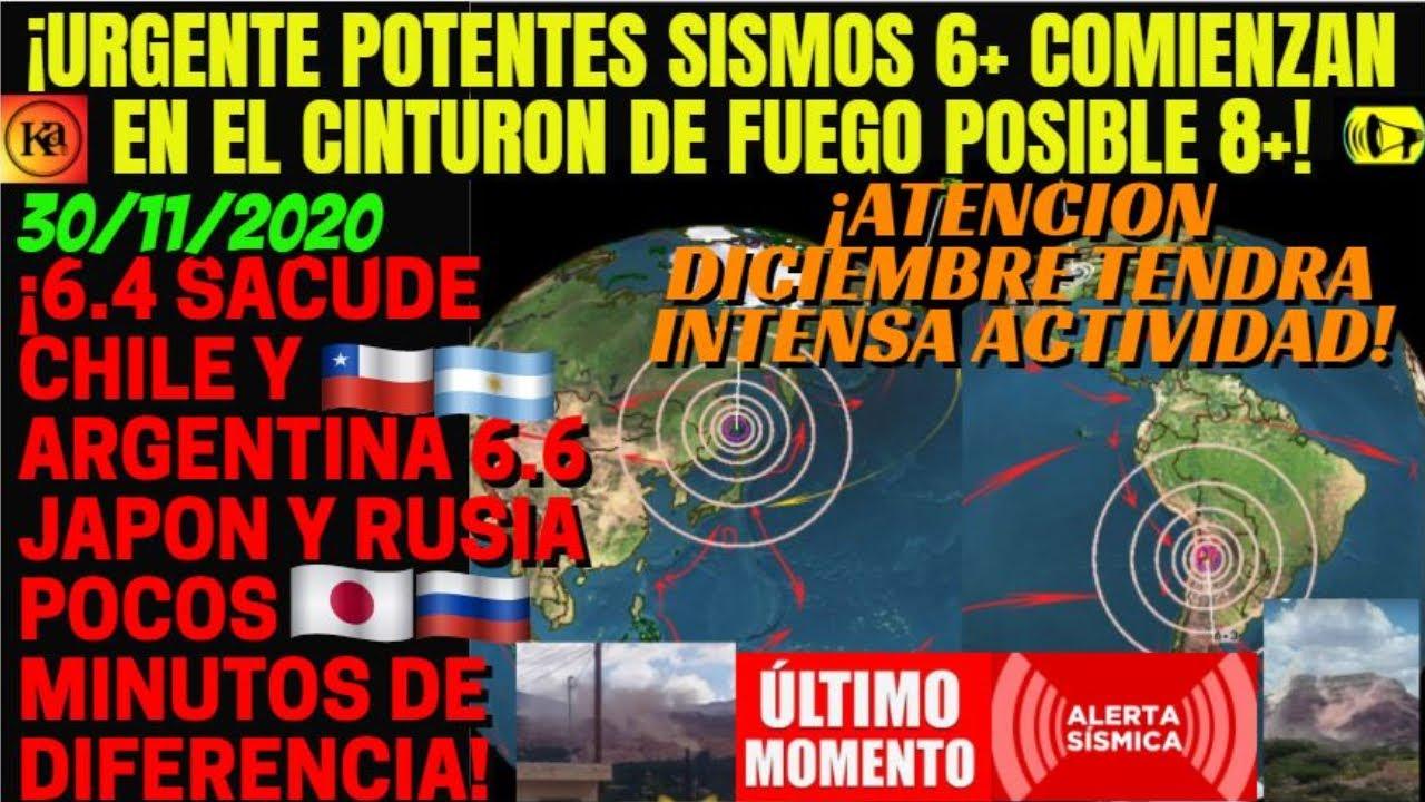¡🚨URGENTE FUERTES SISMOS 6.4 EN ARGENTINA Y 6.6 RUSIA VIENE UN 8+ SE ACTIVA EL CINTURON DE FUEGO!
