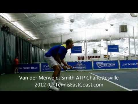 "John Patrick ""JP"" Smith vs. Izak Van der Merwe at 2012 Charlottesville Challenger"
