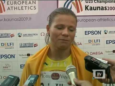 Sprinterė L.Grinčikaitė Europos čempionate Kaune iškovojo aukso medalį!