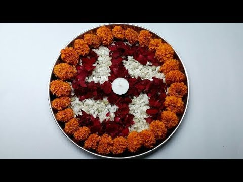 how to make thali decoration