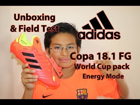 Unboxing & Field Test adidas Copa 18.1 FG Soccer Cleats World Cup pack Energy Mode