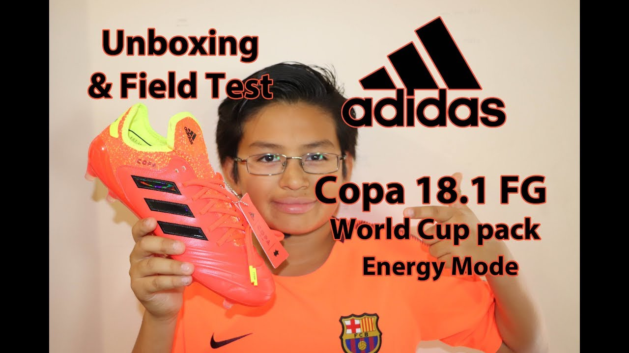7c7406459 Unboxing & Field Test adidas Copa 18.1 FG Soccer Cleats World Cup pack  Energy Mode