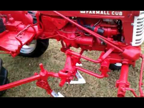 1957 Farmall Cub with Cultivators - YouTube