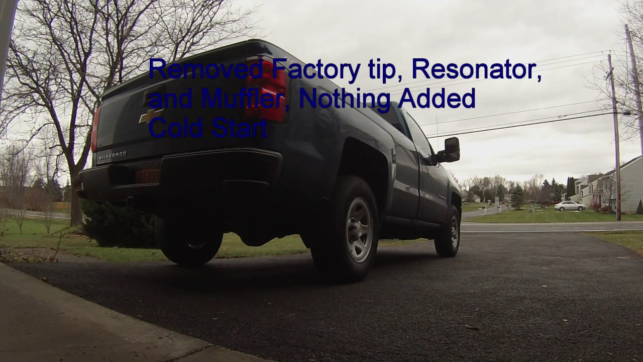 hight resolution of 2016 5 3l silverado exhaust removal of resonator and muffler