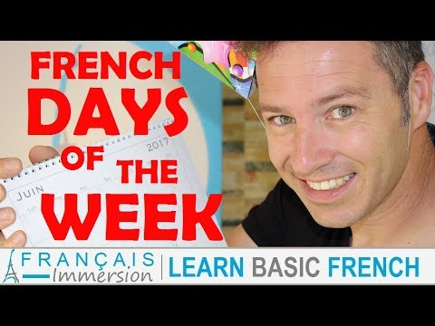 french days of the week les jours de la semaine fun learn french with funny french lessons. Black Bedroom Furniture Sets. Home Design Ideas