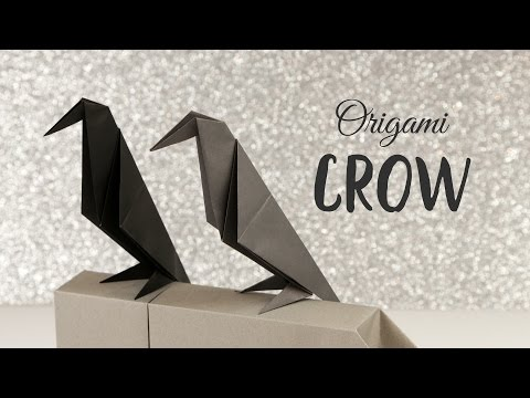 Perching Origami Crow Tutorial - Halloween DIY - Paper Kawaii