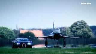 Epicki pojedynek - Bugatti vs Myśliwiec - Lektor - Top Gear Zajawki - BBC Brit Polska