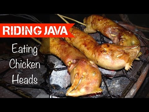 How to Eat Chicken Heads in Yogyakarta