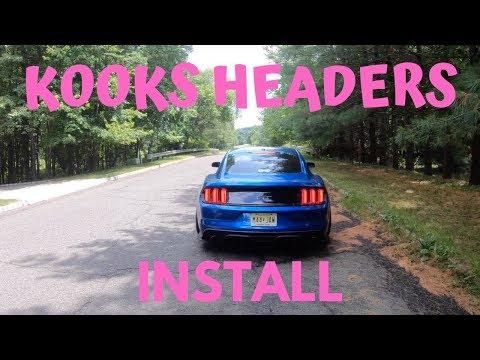 15-19 Kooks Long Tube Headers Install | Mustang GT S550