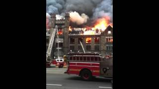 OLD EDISON HIGH SCHOOL ON FIRE