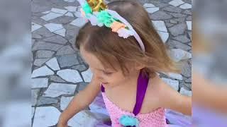 Праздничное детское платье с Aliexpress. Примерка детского платья с Алиэкспресс. Обзор