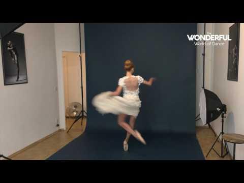 Iana Salenko photoshoot behind the scenes for The Wonderful World of Dance Magazine
