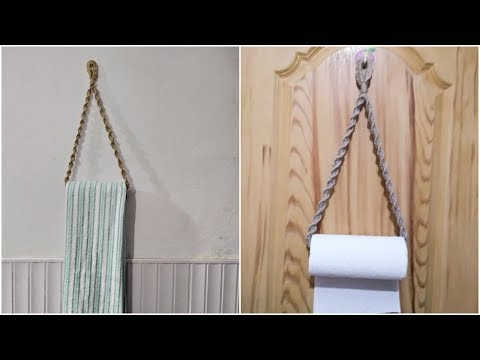 Handmade Jute towel holder