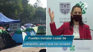 La jefa de gobierna de la Ciudad de México explicó que el cerco policial se instaló para proteger a los manifestantes