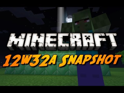 Minecraft Snapshots - 12w32a - Command & Beacon Block, Zombie Villagers, & More!