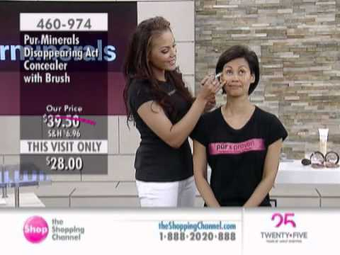 Pur Minerals Disappearing Act 4-in-1 Concealer with Brush at The Shopping Channel 460974