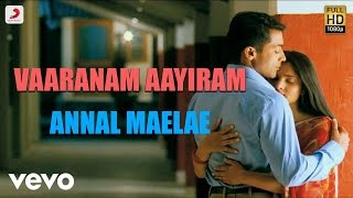Listen to annul maelae official lyric video from the movie vaaranam aayiram song name - singer sudha raghunathan musi...