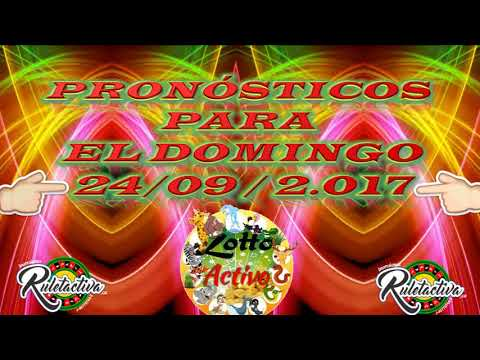 DATOS LOTTO ACTIVO 24 09 2017