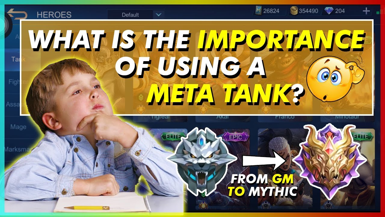 WHAT IS THE IMPORTANCE OF USING THE META TANKS? MLBB DISCUSSION BY HONDA BEAST