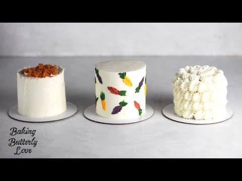 Three Carrot Cake Decorating Ideas