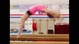 Back Handspring Step Out On Balance Beam Tutorial With Coach Meggin!