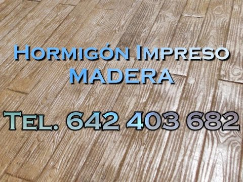 Hormig n impreso imitaci n madera youtube for Hormigon impreso youtube