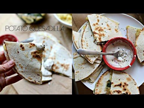 Potato Quesadilla LOW FAT – Bad Ass Vegan Kitchen