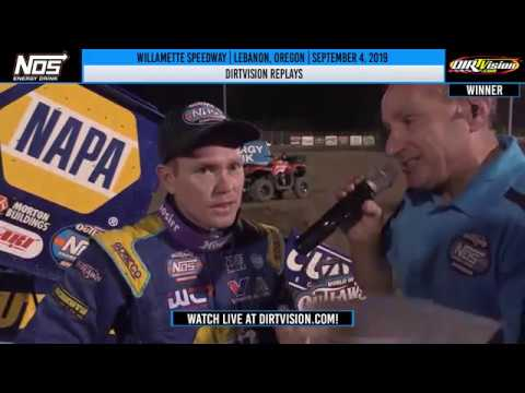 DIRTVision Replays from Willamette Speedway in Lebanon, Oregon on September 4th, 2019 - World of Outlaws NOS Energy Drink Sprint Cars. - dirt track racing video image