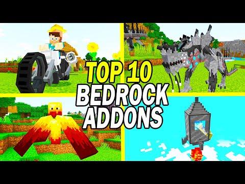 Top 10 Minecraft Bedrock Addons (Windows 10/MCPE  August 2021)