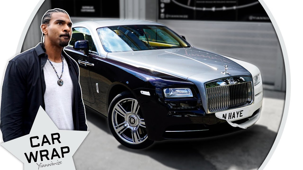 David Haye S Rolls Royce Wraith Part Wrapped Gloss Pearl