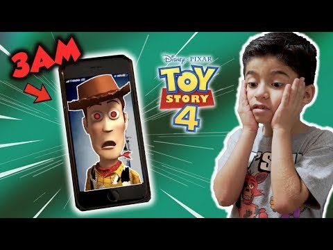 Calling Woody From TOY STORY 4 On FACETIME At 3 AM!! *He came to MY HOUSE!!!!