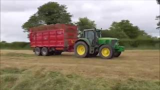 Silage 2K17 with John Deere 6820 and Broughan