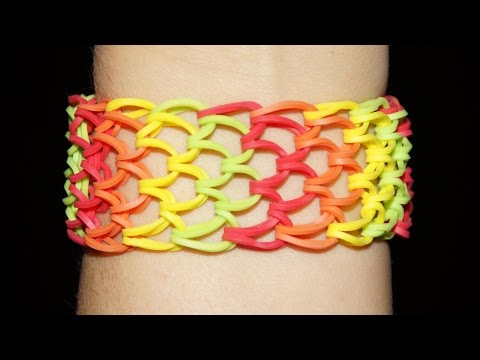 Loom Bandz (Rainbow Loom) Anleitung Deutsch, Drachenschuppen – Armband