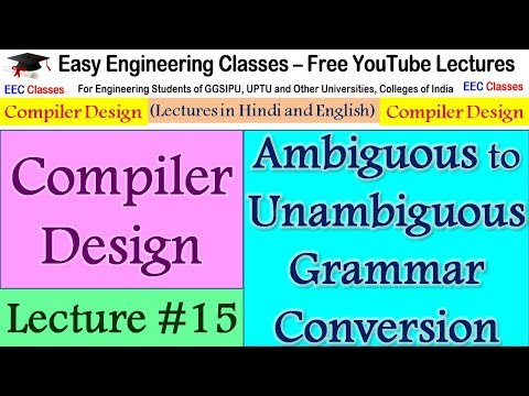 Compiler Design Lecture #15 - Convert ambiguous grammar into unambiguous with Example