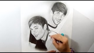 RetratoSpeed de SMOSH (*paunegretemarin*Retrato a lápiz*)