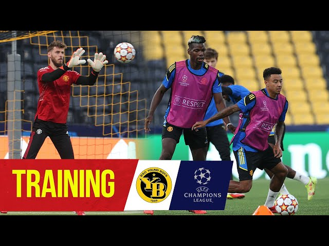 Reds train ahead of Champions League opener | Young Boys v Manchester United | Ronaldo, Pogba, Bruno