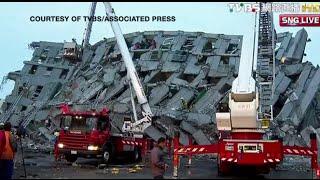 6.4 magnitude eathquake hits Taiwan