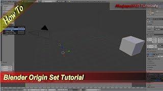 How To Use 4 Set Origin In Blender