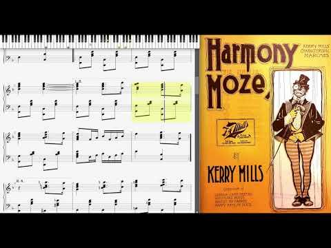 Harmony Moze by Kerry Mills (1902, March piano)
