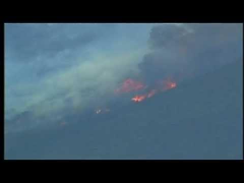 Mexico Fire Sends Smoke Ash into USA - Raw Video - November 2, 2011