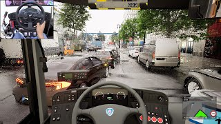 The Bus - Early access gameplay - Dynamic weather | Thrustmaster T300RS screenshot 1