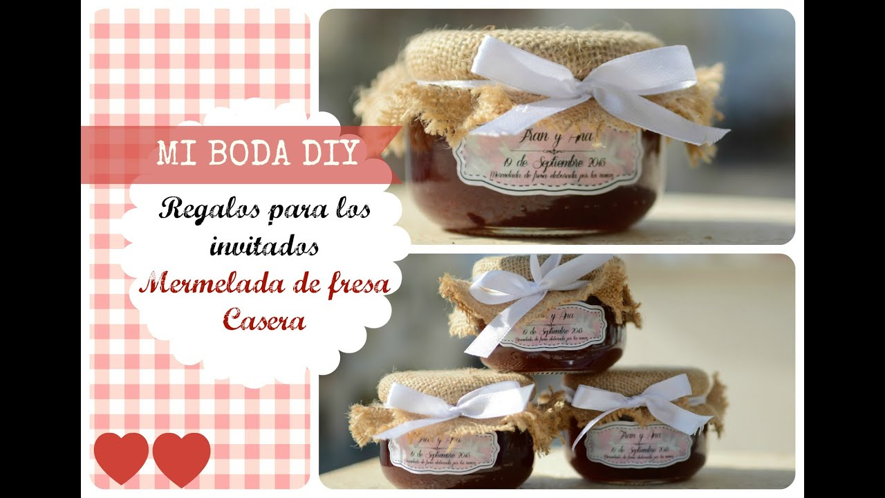 Diy boda regalos invitados mermelada casera scrapbook decoraci n youtube - Diy para bodas ...
