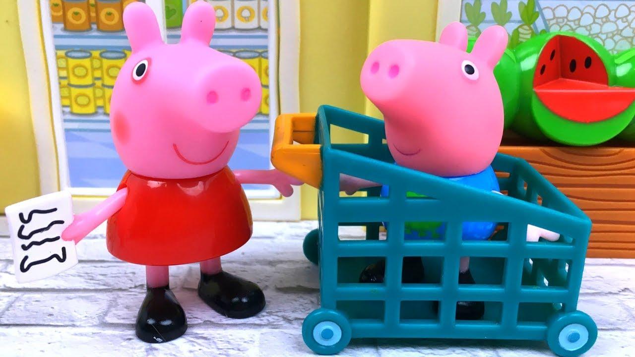 De Con En Peppa Pig Y Mama Compras Papa Supermercado Va rdhBsxtCQ