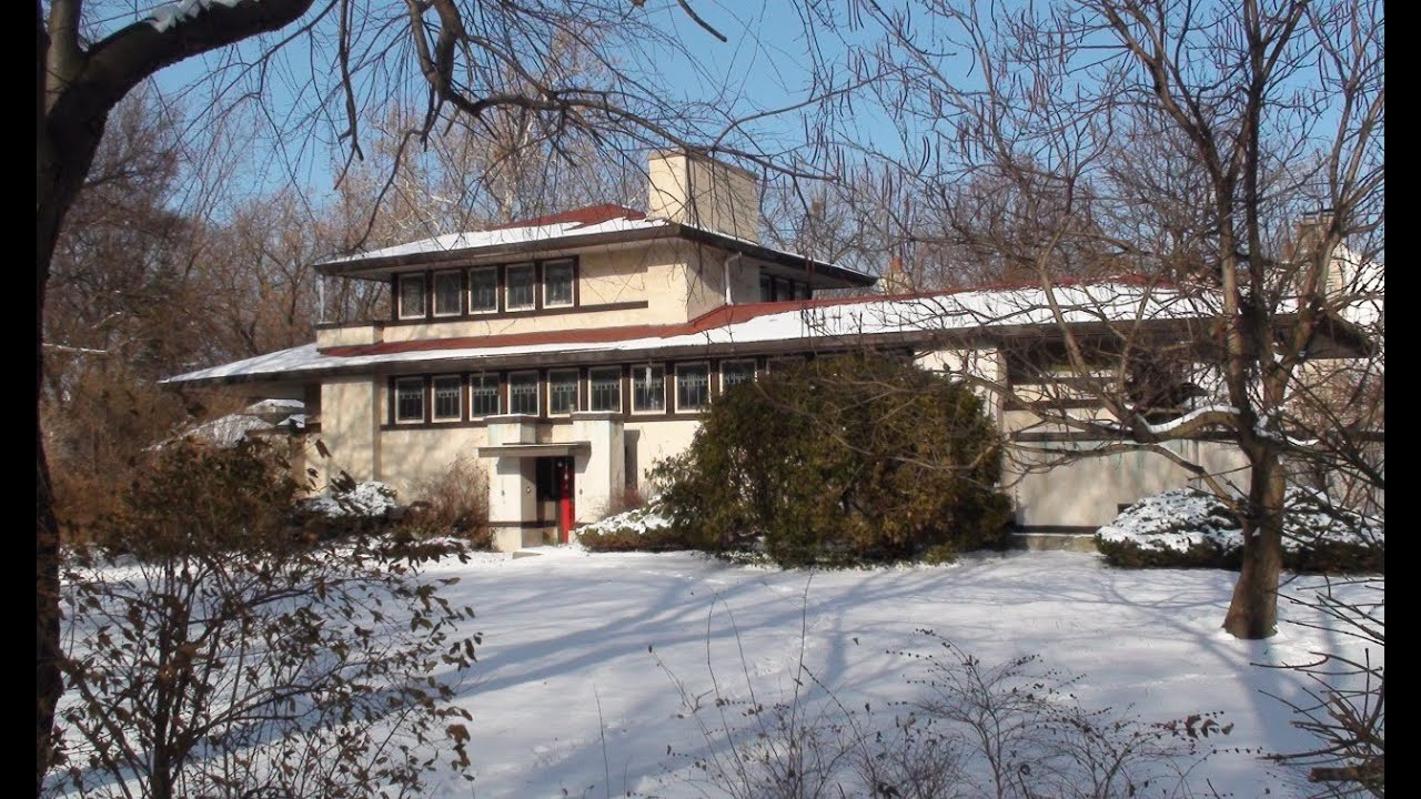 Frank Lloyd Wright In Riverside Il. The Tomek House - YouTube