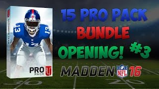MUT 16 - 15 PRO PACK OPENING! - #3 - 2 ELITE PULLS!! - MADDEN 16 ULTIMATE TEAM!!