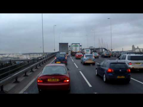 Slow traffic on Dartford Crossing HD720p