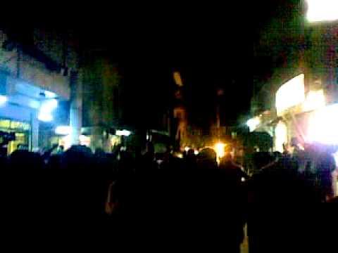 حلب - حي السكري || جامع أويس القرني جمعة النفير 10-2-2012