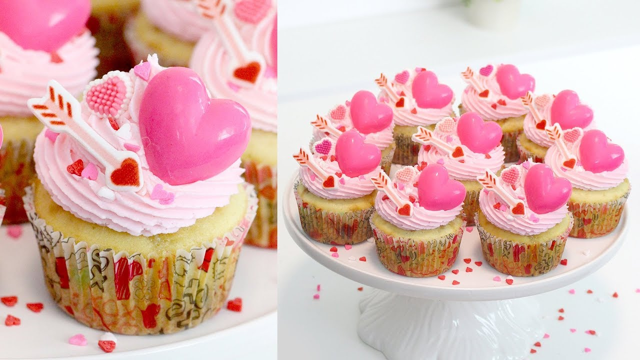 Easy Valentine S Day Cupcakes Recipe Chocolate Chip Cupcakes Recipe