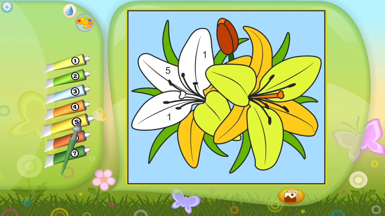 Coloring by numbers for seniors app - Color By Numbers Flowers